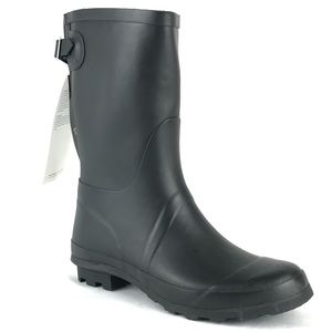 Storm by Cougar Rain Boots Black Rubber Mid Calf